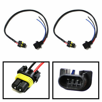 9006-To-H13 Conversion Wires Adapters For Headlight Retrofit or HID Kit Install