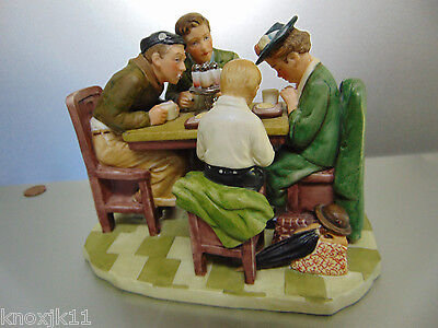 Norman Rockwell Porcelain Say GRACE BEFORE MEALS FIGURINE Breakfast Table Gorham