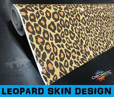 Leopard Stickerbomb Car Wrapping Vinyl 152 x 30cm - Bubble Free Wrap Film Foile