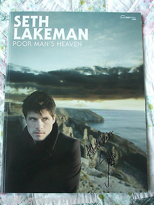 Hand Signed Seth Lakeman Autographed Poor Mans Heaven Guitar Sheet Music Book