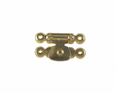 Box spring clasp small brassed Jewellery Case Fastener
