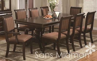"""Formal 7 Piece """"Bordeaux"""" Dining Room Set Table with 18"""" Leaf & 6 Chairs NEW!"""