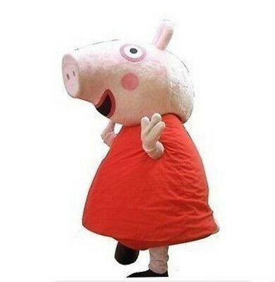 Adult size suit Actual photo red peppa pig mascot Costume EPE Head+Fast Shipping