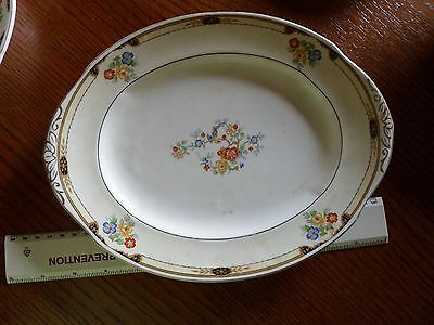 W. H. Grindley & Co. England Ivory Dorset Pattern Oval Serving platter