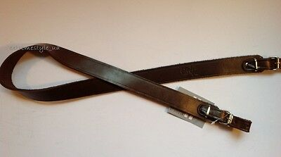 Hunting LEATHER RIFLE GUN SLING / Brown