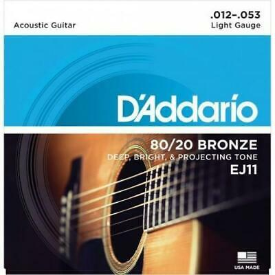 D'Addario 80/20 Bronze Acoustic Guitar Strings Light 12-53 EJ11