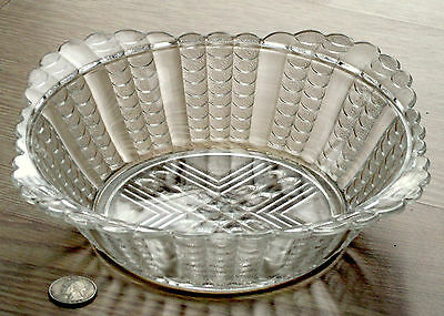 large EAPG square bowl FISHSCALE pattern BRYCE or U.S. GLASS 1888 1890s