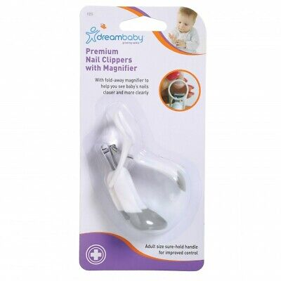 New Dreambaby Baby Premium Nail Clippers with Magnifying Glass Magnifier Dream