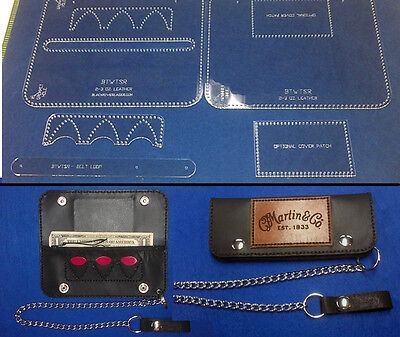 "7-1/2"" Guitarist Wallet Template Set With Pick Pockets - Cool Item"