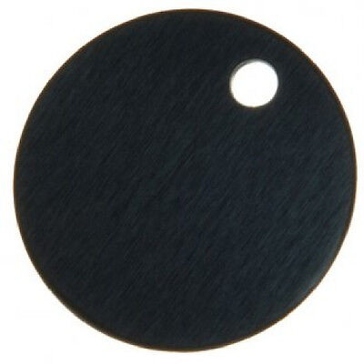 32mm Aluminium Engraving Disc, Tag BLACK x 10 -Free Postage! LNA32BL