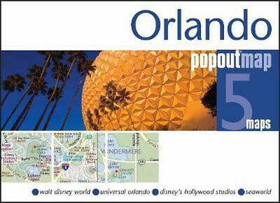 Orlando PopOut Map: Handy pocket size pop up map of Orlando and Walt Disney Worl