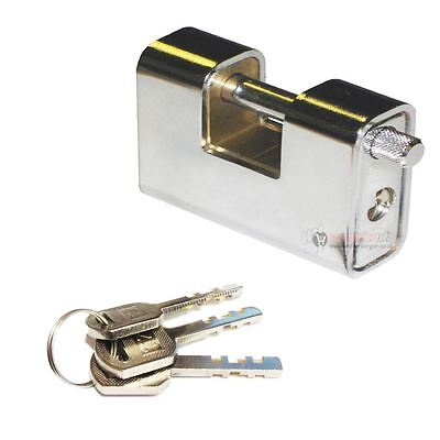 Heavy Duty 94mm Hardened Steel Shutter Lock Container Padlock Security Shackle