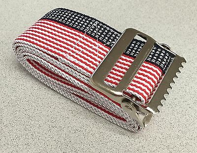 "METAL Release Transfer Gait Belt 60"" Stars Stripe Gaits Medical Caregiver Belts"