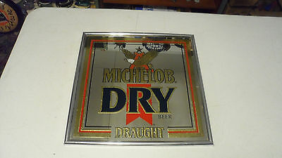 Rare 1990 Michelob Dry Draught Beer Bar Mirror Sign With Eagle