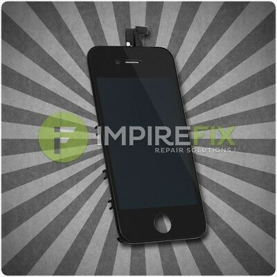 Original iPhone 4S Retina LCD + Touchscreen Display Glas Front SET Schwarz Black