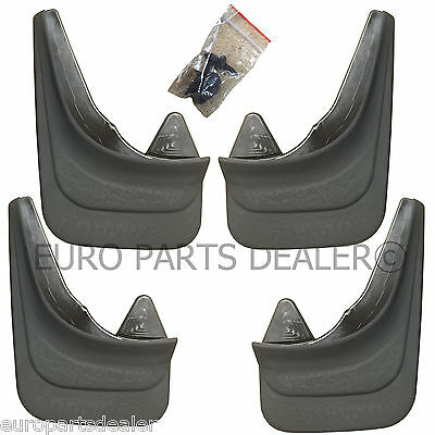 Set of 4x Rubber Moulded Universal Fit MUD FLAPS, GUARDS for FIAT models