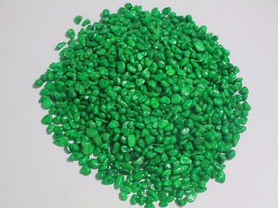 Fish tank bowl aquarium terrarium painted gravel pebbles 2kg green AA370