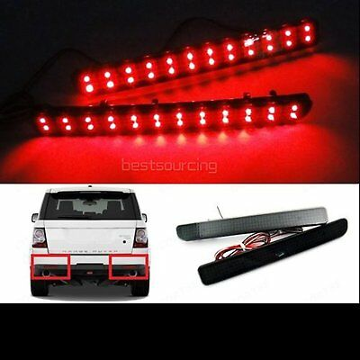 LED Rear Bumper Reflector Rover Discovery 3 4 Range Sport Brake Stop Light Black