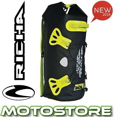 Richa H20 Cylinder Roll Dry Bag Fluo Yellow Motorcycle Wp Waterproof 30L Tailbag