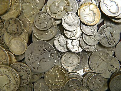 $1.00 Face Value 90% Silver U.S Junk Coins Like Mercury Dimes &Walking Liberty !