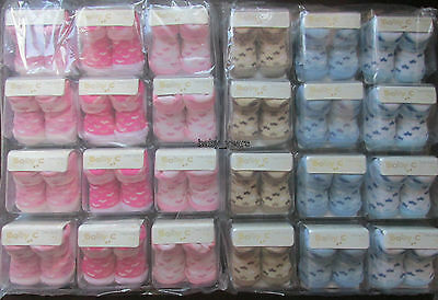 12 X Baby Girls Boys Ankle Socks In Box Baby Shower Gift Baskets Job Lot New