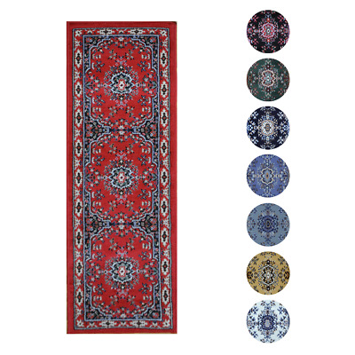 """Traditional Oriental Medallion Rug 2x7 Persian Style Runner -Actual 1'10""""x7'3"""""""