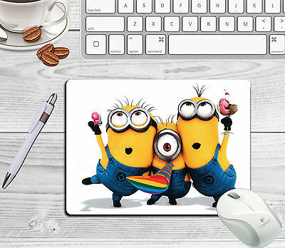 Minions Mousemat Can Be Personalised With Any Name/Text Free Postage