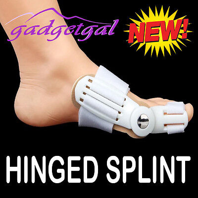 New Hinged Bunion Protector Splint Pad - Hallux Valgus Foot, Toe Pain Relief