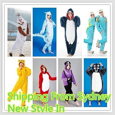 New Adult Kids Unisex Kigurumi Animal Onesie Pajamas Cosplay Costume Sleepwear