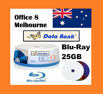 BRAND NEW Data Bank Blu Ray Disc 25GB Inkjet Printable Blank BD -R AUS Stock A++