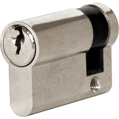 NEW 6 Pin Single Cylinder (40mm) Nickel Each