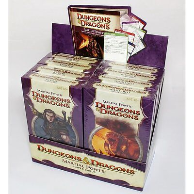 WOTC Box of 8 packs - Martial Power - Dungeons & Dragons 4th Edtn - Power Cards