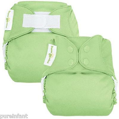bumGenius 4.0 One-Size Cloth Diaper: Grasshopper - Snap or Hook & Look