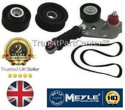 Alternator Fan Drive Belt Tensioner Pulley Kit Jaguar X Type Ford Mondeo +Aircon