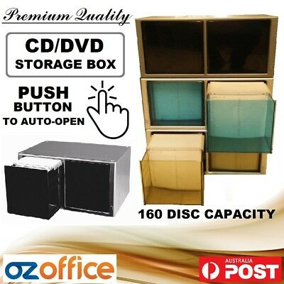 EXCLUSIVE CD DVD 160 Storage Box Movie Game Disc Storage Touch Box 160 Capacity