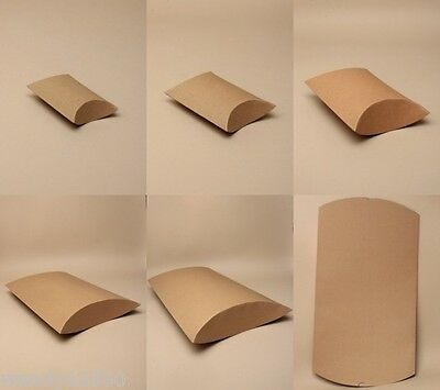 Pack Of 12 Natural Brown Pillow Pack / Gift Boxes : Cheapest On Ebay: Wholesale