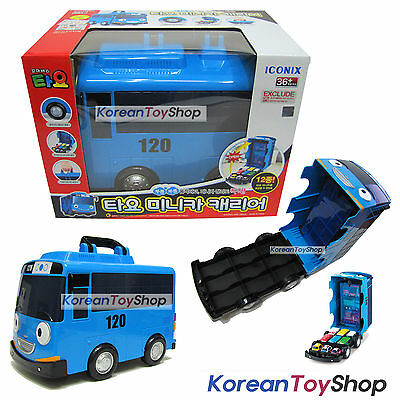 """The Little Bus TAYO Mini Car Carrier Storage Toy for 2"""" Mini Tayo No Cars Inside"""