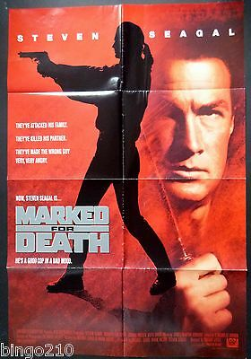 Marked For Death Original 1990 1 Sheet Poster Steven Seagal Joanna Pacula