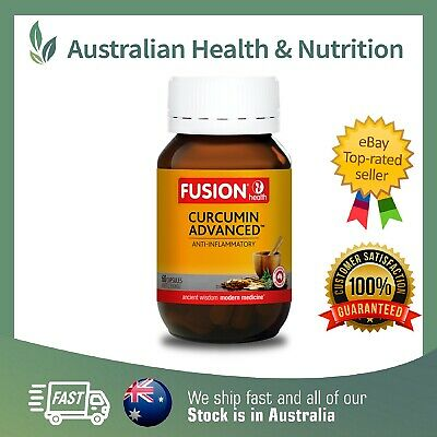 Fusion Health Curcumin Advanced - Highest Strength - All Sizes + Free Sample