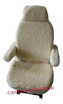 Fiat Ducato Luxury Motorhome Seat Covers - Faux Sheepskin + Armrest Covers