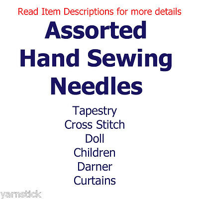 Hand Sewing Needing - Assorted Lengths, Sizes, Thicknesses See Item Descriptions