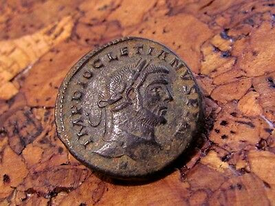 A Rare Roman Bronze Follis Of Diocletian