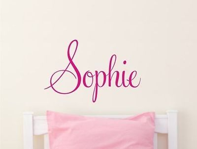 Wall Stickers custom baby name Large vinyl decal decor Nursery kid removable