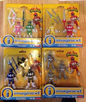Imaginext Power Rangers MMPR Set Of 4 Brand New Rare Sealed