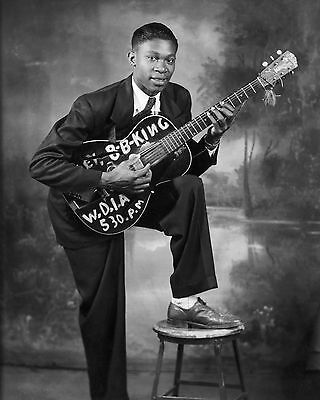 Young B. B. King, 8x10 B&W Photo
