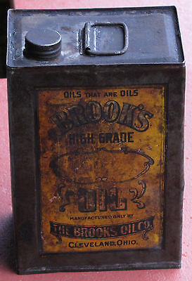 Antique Brook's High Grade Oil Can. The Brooks Oil Co