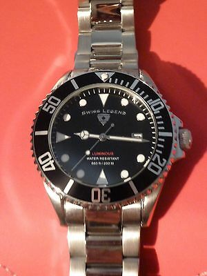 SUBMARINER Swiss Legend Luminous-Quadrante Nero/Black