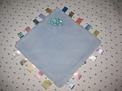 """NWOT Adorable Taggies Plush Blue 100% Cotton """"Special Delivery"""" Comfort Blanket"""