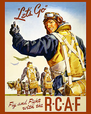 CANADA RCAF - PROPAGANDA WAR WWII  Poster- 8x10 Color Photo