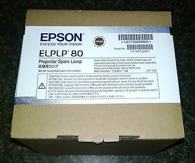 GENUINE Epson Projector Lamp / Bulb (New, Unopened, Original Box) - ELPLP80